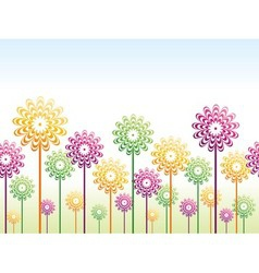 Seamless flower background vector image