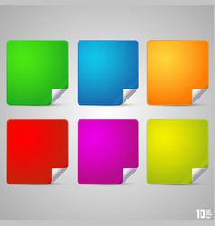 square with a curved end vector image vector image