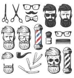 Vintage Barber Elements Set vector image