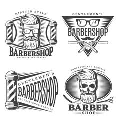 Barbershop Design Elements Set vector image