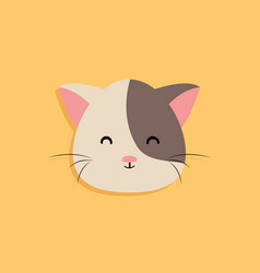 cat cartoon face vector image