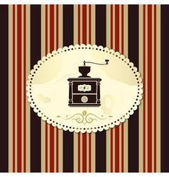 coffee vintage background vector image vector image