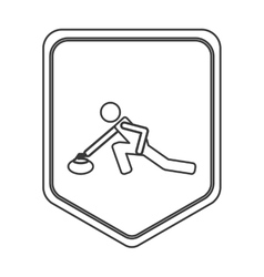 curling pictogram icon vector image vector image