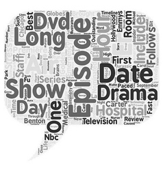 ER DVD Review text background wordcloud concept vector image vector image