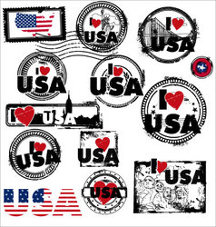 i love usa vector image vector image