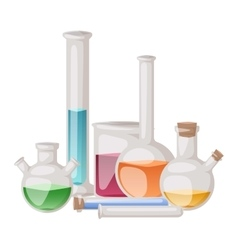 Lab flask set vector image