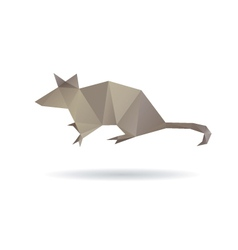 Mouse abstract isolated on a white backgrounds vector image vector image