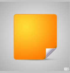 square with a curved end vector image