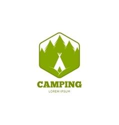 logo of camping vector image vector image