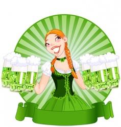 Saint Patrick's day girl vector image vector image