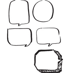 set of frames hand drawn vector image vector image