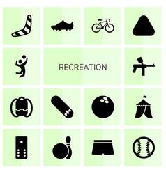 14 recreation icons vector
