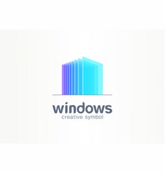 3d windows glass creative symbol concept vector image