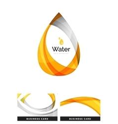 Abstract geometric water drop design vector