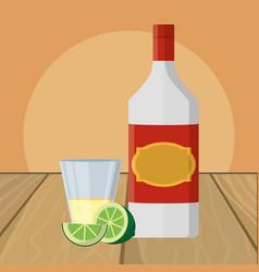 alcoholic drink cartoon vector image