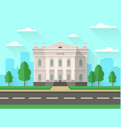 bank building government house with columns vector image