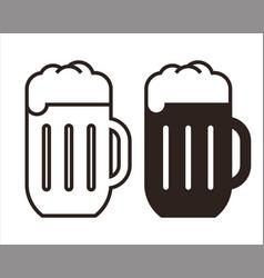 beer mugs set vector image