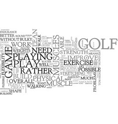 Best exercise tips for golfers text word cloud vector