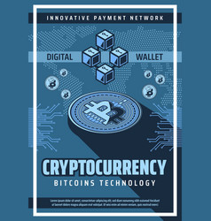 Bitcoin technology cryptocurrency digital money vector