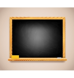 Black Chalkboard on Light Brown Wall vector