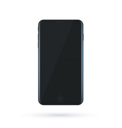 black concept of modern phone with empty screen vector image