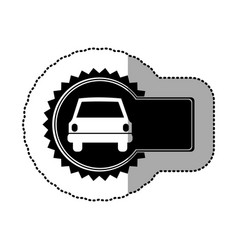 Black emblem car front icon vector