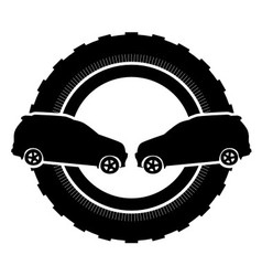 Black logo car vector
