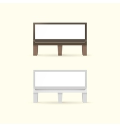 Blank Bench with Place for Message vector