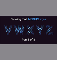 blue glowing font in the outline style vector image