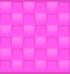 bright pink romantic pattern vector image