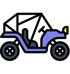 Buggy icon transportation related vector