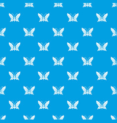 Butterfly with antennae pattern seamless vector