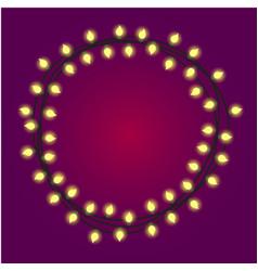 christmas or holidays lights or casino light bulbs vector image