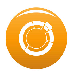 circle chart icon orange vector image