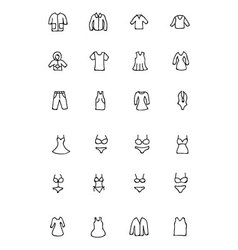 Clothes Hand Drawn Doodle Icons 1 vector image