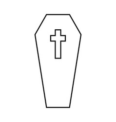 coffin halloween icon isolated on white background vector image