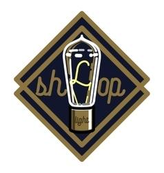 Color vintage lighting shop emblem vector image