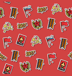 colored communism concept icons pattern vector image