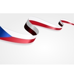 Czech flag background vector image