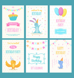 design template of cards with of vector image