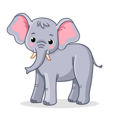 elephant stands on a white background vector image