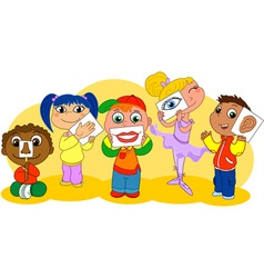 Five senses kids vector