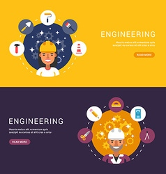 Flat Design Concept for Web Banners Building Icons vector image