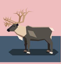 Flat design reindeer vector