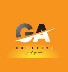 Ga g a letter modern logo design with yellow vector