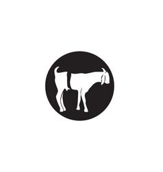 Goat black animals logo and symbol vector