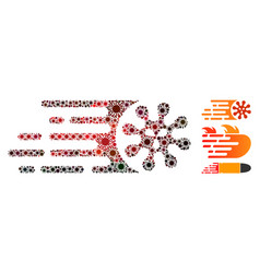 Gone viral mosaic coronavirus items vector