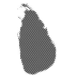 halftone schematic sri lanka island map vector image