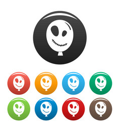 halloween ballon icon simple style vector image