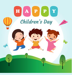 Happy childrens day background vector